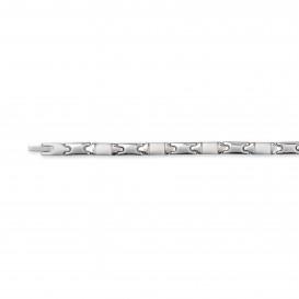 Slate 404.0033.21 Armband staal zilverkleurig 21 cm
