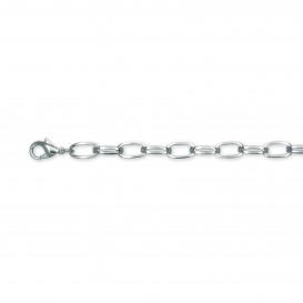 Slate 404.0105.21 Armband staal zilverkleurig 21 cm