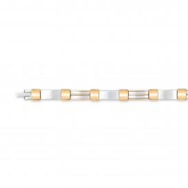 Slate 404.0126.21 Armband staal zilver- en goudkleurig 21 cm