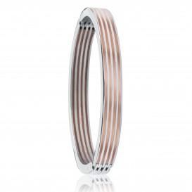 Slate 404.0231.09 Armband staal zilver- en rosekleurig 70 mm