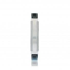 Slate 404.0320.21 Armband staal/leder zilverkleurig-zwart 21 cm
