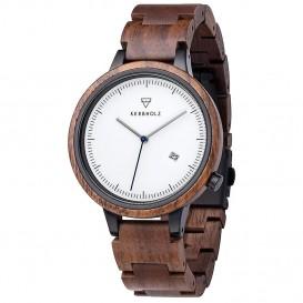 Kerbholz 4251240409900 Horloge Staal-Hout Lamprecht Walnut 42 mm