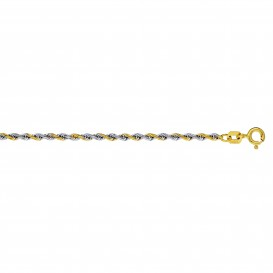 Glow Gouden Schakelarmband - 19 Cm Koord Hol 2.0 Mm  204.5033.19