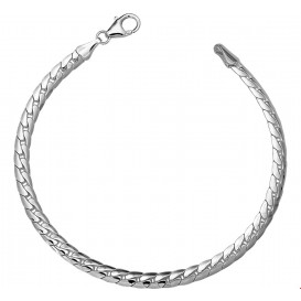 Armband Zilver Gourmet Bol 4,5 mm 19 cm
