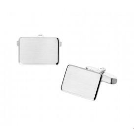 Manchetknopen Mat Gediamanteerd Zilver  11,5 mm x 18,0 mm