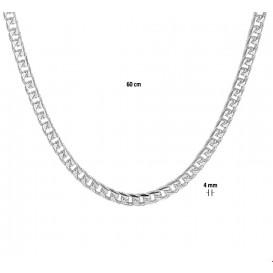 TFT Zilveren Ketting Gourmet 4,0 mm 60 cm