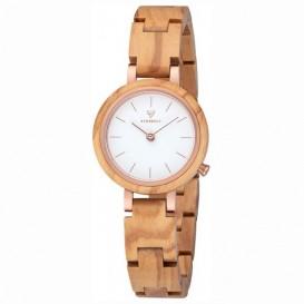 Kerbholz 4251240409375 Horloge Staal-Hout Matilda Olivewood 28 mm