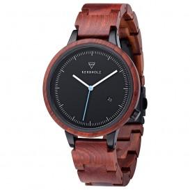 Kerbholz 4251240409917 Horloge Staal-Hout Lamprecht Rosewood 42 mm