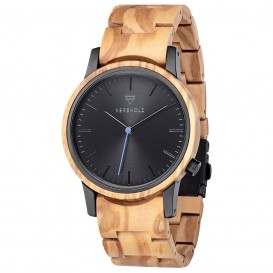 Kerbholz 4251240409979 Horloge Staal-Hout Walter Olivewood 40 mm
