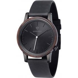 Kerbholz 4251240409986 Horloge Staal-Hout Walter Sandalwood 40 mm
