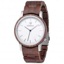Kerbholz 4251240409993 Horloge Staal-Hout Walter Walnut 40 mm