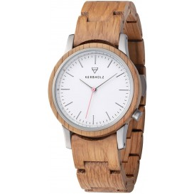 Kerbholz 4251240410012 Horloge Staal-Hout Wilma Oak 36 mm