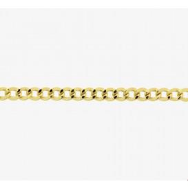 Zilgold Collier goud met zilveren kern Geslepen Gourmet 5,0 mm