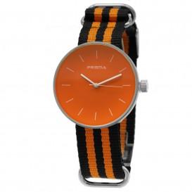 **Prisma horloge P.1243 C011901 Design Simpel Oranje P.1243 Herenhorloge 1