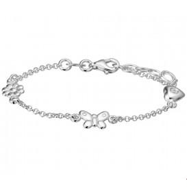 Armband Zilver Diverse Bedels 13 + 2 cm