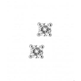 Oorknoppen Diamant 0.20 Ct. Witgoud Glanzend