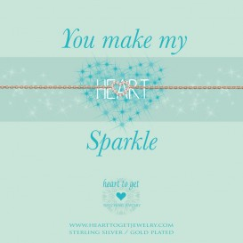 Heart to get B239OPZ15R you make my heart sparkle armband rose verguld