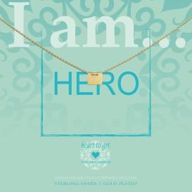Heart to get IAM415N-HERO-G hero ketting verguld