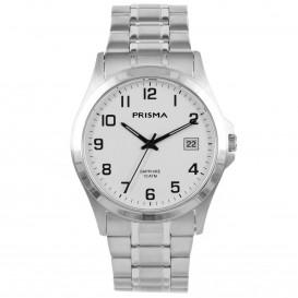 Prisma Horloge 1725 Heren All Stainless Steel Saffierglas P.1725 Herenhorloge 1