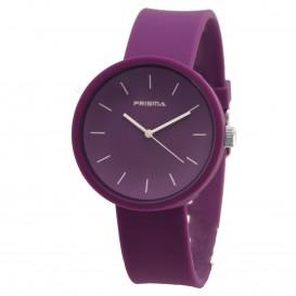 **Prisma horloge P.1245 C011903 Design Simpel Paars P.1245 Herenhorloge 1