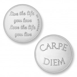 Mi Moneda CAR-01 Love - Carpe Diem zilverkleurig Medium