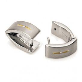 Boccia Titanium 0521-03 Creolen met diamant
