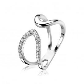 Zinzi ZIR1477 Zilveren ring druppel multi-look Maat 62 is 19.75 mm