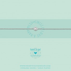 Heart to get B199CIZ14S bracelet circle zirkon circle of love & happiness silver