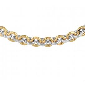 Zilgold Collier goud met zilveren kern Anker 10 mm 47 cm