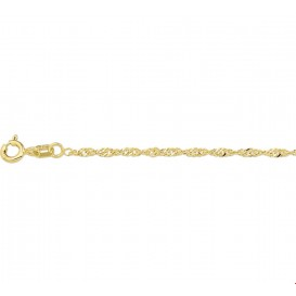 Armband Goud Singapore 1,8 mm 18 cm