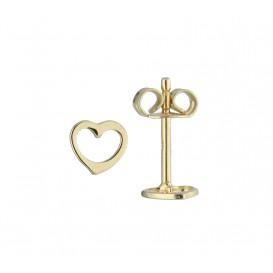 Glow Gouden Kinderoorknopjes Hart 206.0491.00