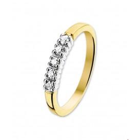 TFT Ring Diamant 0.15ct H P1 Bicolor Goud