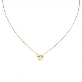 Glow Gouden Collier Met Hanger Open Ster 42+2cm 202.2046.42