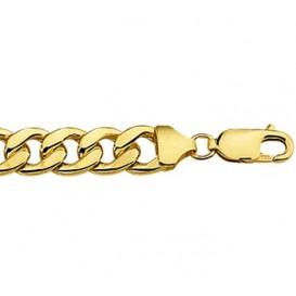 Zilgold gourmet-armband goud met zilveren kern 21 cm 50.00100