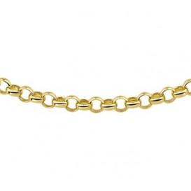 Zilgold Collier goud met zilveren kern Jasseron 45 cm 50.00110