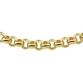 Zilgold Collier goud met zilveren kern Jasseron 45 cm 50.00115