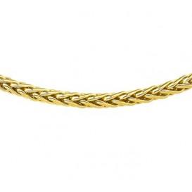 Zilgold Collier goud met zilveren kern Palmier 45 cm 50.00119