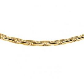 Zilgold Collier goud met zilveren kern Choker 45 cm 50.00125