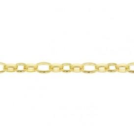Zilgold Collier goud met zilveren kern Jasseron 45 cm 50.00130