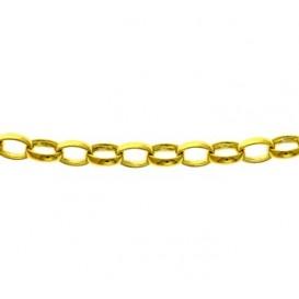 Zilgold Collier goud met zilveren kern Jasseron 45 cm 50.00155