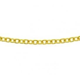 Zilgold Collier goud met zilveren kern Anker 45 cm 50.00157