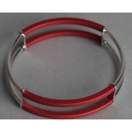 Step by Step Armband Staal-Aluminium 500120