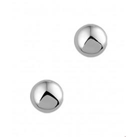 Oorknoppen Halfbol Witgoud Glanzend 5.5 mm x 5.5 mm