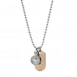Fossil JF02762998 Mens Vintage Casual Heren Dogtag collier