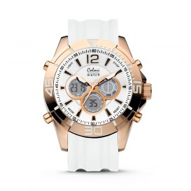 Colori Urban 5-CLD080 - Horloge - siliconen band - wit - 47 mm