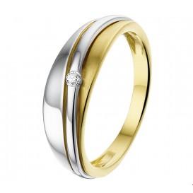 TFT Ring Diamant 0.03ct H SI Bicolor Goud