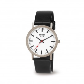 Boccia Titanium 521.03 horloge Leer Zwa Heren 1