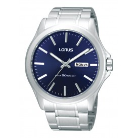 Lorus RXN65CX9 Herenhorloge staal zilverkleurig-blauw