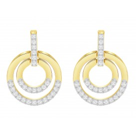 Swarovski Oorbellen Circle White/Gold 5290188