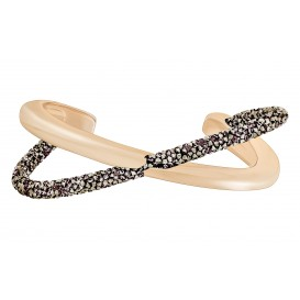 Swarovski Armband Crystaldust Cuff Cross Rosegold-Black M 5291198